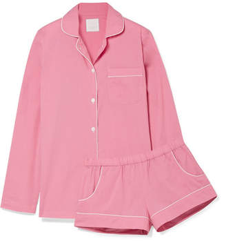 Three J NYC Josephine Cotton-poplin Pajama Set - Pink