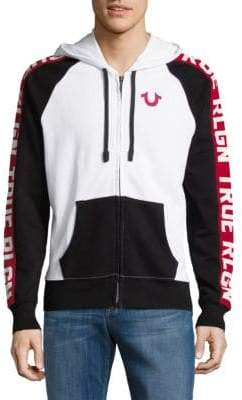 True Religion Full-Zip Cotton Hoodie