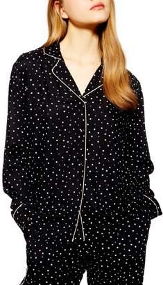 Topshop Star Print Pajama Shirt