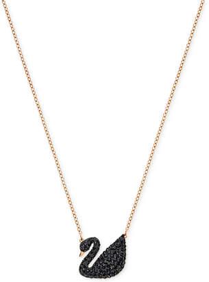 Swarovski Crystal Pave Swan Pendant Necklace $99 thestylecure.com