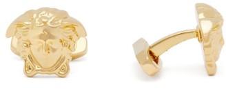 Versace Medusa Gold Tone Cufflinks - Mens - Gold