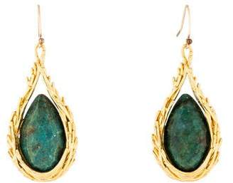 Alexis Bittar Chrysocolla Feathered Drop Earrings