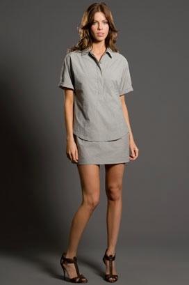 Sari Gueron Double Shirtdress with Dolman Sleeves
