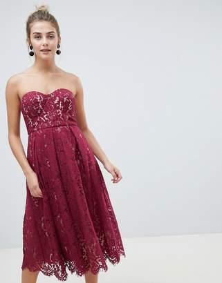 New Look lace bandeau midi dress