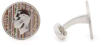 Paul Smith Coin Cufflinks - Mens - Silver
