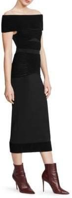 Roland Mouret Hanbury Off-The-Shoulder Midi Dress