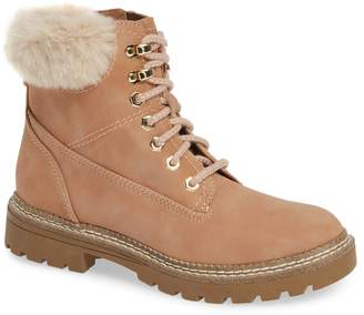 Steve Madden Alaska Lace-Up Bootie with Faux Fur Cuff