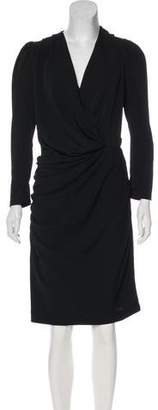 Balenciaga Ruched Long Sleeve Dress