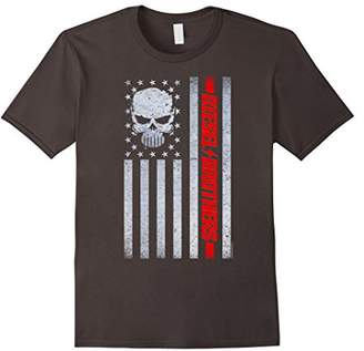 Diesel Brothers Grungy American Flag Skull Graphic T-Shirt