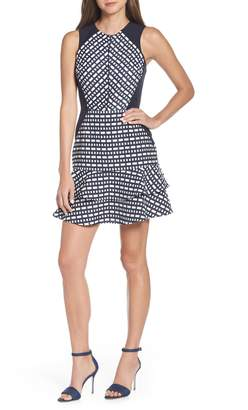 Adelyn Rae Kinsley Geo Jacquard Dress