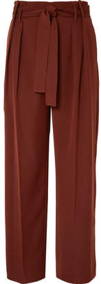 Vince Belted Jersey Pants - Brown