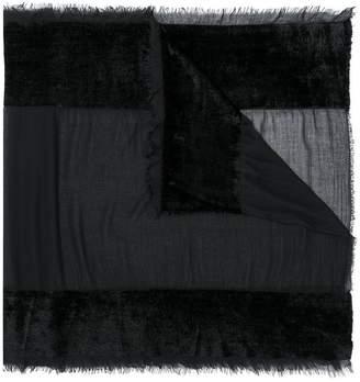 Faliero Sarti paneled sheer scarf
