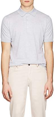 John Smedley Men's Knit Cotton Polo Shirt