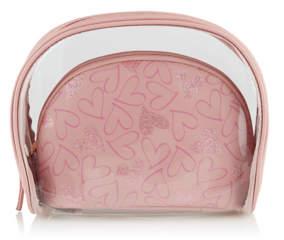 George Pink 2 in 1 Cosmetic Bags Set
