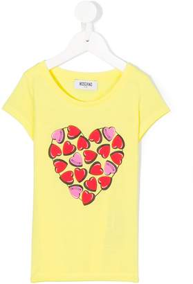 Moschino Kids heart print T-shirt