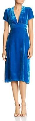 WAYF Margie Velvet Dress