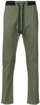 Les Hommes Urban side stripe slim-fit trousers