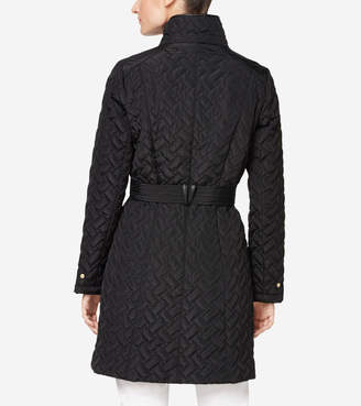 Cole Haan Quilted Zip Front Coat