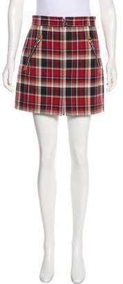Rag & Bone Plaid Mini Skirt