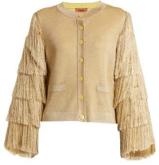 Missoni Fringed-sleeve knit cardigan