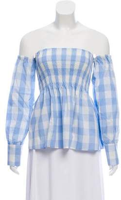 Walter Baker Plaid Clare Top w/ Tags