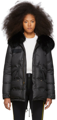 Mr & Mrs Italy Black Down Puffer Parka