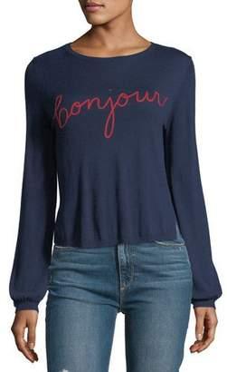 Joie Jenris Bonjour Crewneck Pullover Sweater