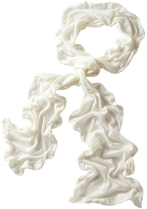 Fine-knit ruffle scarf