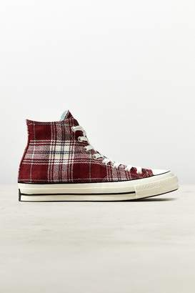 Converse Chuck 70 Elevated Plaid High Top Sneaker