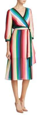 Alice + Olivia Dyanna Striped Dress
