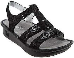 Alegria Leather Multi-strap Sandals w/Backstrap- Kleo