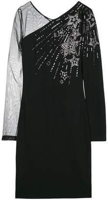 Just Cavalli embellished sheer sleeve dress