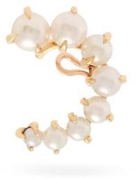 Ana Khouri Marie 18kt Gold & Pearl Ear Cuff - Womens - Pearl