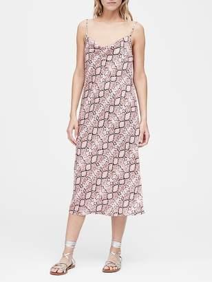 Banana Republic Snake Print Midi Slip Dress