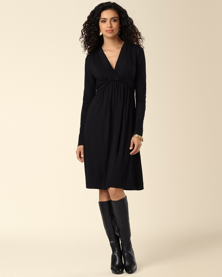 Soma Intimates Knotted Empire Dress Black
