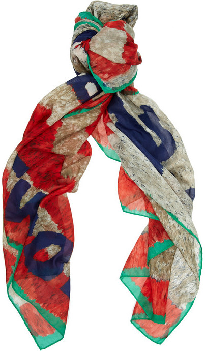 Vivienne Westwood Robot-print cotton and silk-blend scarf