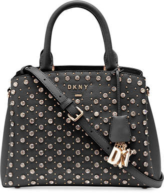 DKNY Paige Sutton Leather Studded Satchel