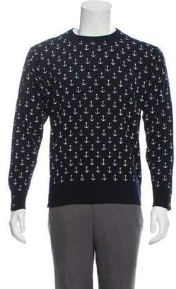 Thom Browne Anchor Graphic Crew Neck Sweater