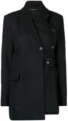 Rokh belted layered blazer
