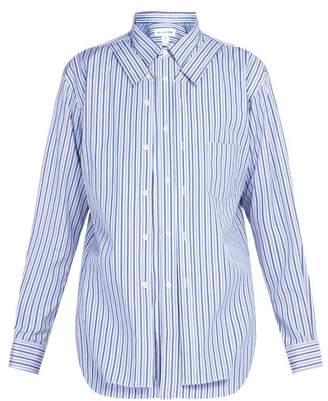 Comme des garçons shirt Comme Des GarAons Shirt - Double Layer Striped Cotton Shirt - Mens - Multi
