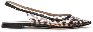 Gianvito Rossi Jen Leopard Slingback Flat in Leopard & Black | FWRD