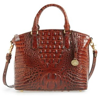 Brahmin 'Medium Duxbury' Croc Embossed Leather Satchel - Brown $275 thestylecure.com
