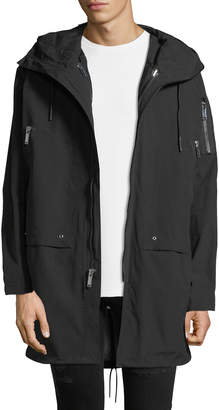 Karl Lagerfeld Men's Oversized Coat with Hood
