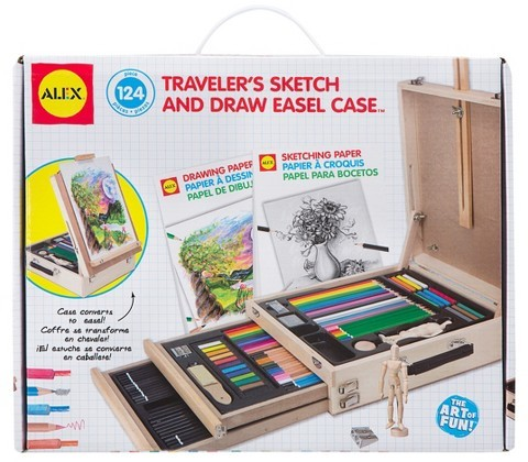 Alex ALEX Toys Artist Studio Traveler's Sketch and Draw Easel Case