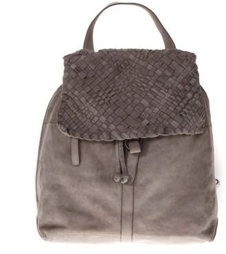Eleventy Sand Suede Weave Backpack