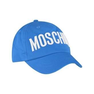 Moschino MoschinoBlue Embroidered Logo Cotton Cap
