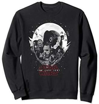 Star Wars Last Jedi Rey Luke Moon Silhouette Sweatshirt