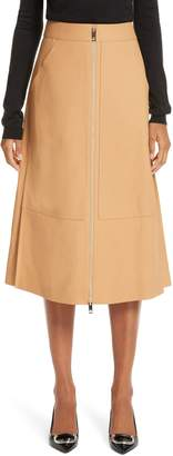 Burberry Lagan Leather Skirt