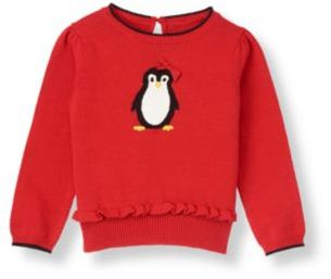 Janie and Jack Bow Penguin Sweater