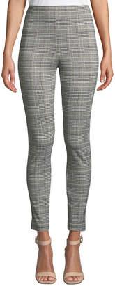 Max Studio Plaid Knit Cropped Pants
